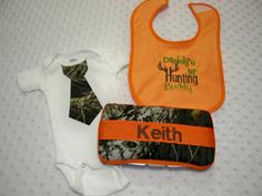 Personalized Camoflauge Baby Boy 3 Piece by grinsandgigglesbaby1, $25.00