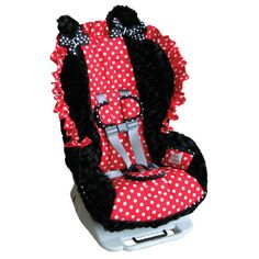 minnie mouse stroller and carseat | Custom Toddler Car Seat Cover - Minnie Mouse