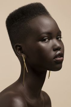 Adut Akech Bior for RYAN STORER Collection Six - Double Stick drop Earring