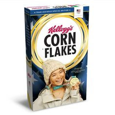US snowboard gold medalist now on a cereal box