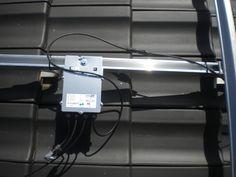 Solaredge Leistungsoptimierer auf Montageschiene