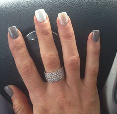 christina el moussa - always love her nails! want mine done ; Get Nails, Fancy Nails, Pretty Nails, Shellac Nails, Acrylic Nails, Nail Polish, Dipped Nails, Hair Skin Nails, Nagel Gel