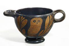 A TYPE GLAUX SKYPHOS, ATTICA, MID-4TH CENTURY B.C.