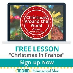 Try a free lesson from this online course for homeschoolers. Christmas Around the World Online Unit Study.