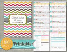 Direct Sales Planner Printable Set Sized por PolkaDotPosiePrint