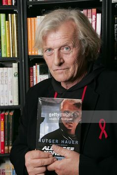 Actor/Author Rutger Hauer signs copies of his new book 'All Those Moments: Stories of Heroes, Villains, Replicants, and Blade Runners' at Book Soup on May 2007 in Los Angeles, California.