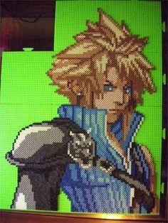 Cloud Strife Final Fantasy 7 VII Perler Beads