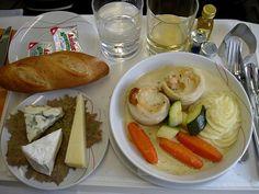 Flying First Class, Grubs, Flight Attendant, Meals, Dining, Breakfast, Cheese Plates, Asian Babies, Air France