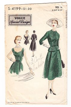 """VINTAGE anni 1950 Sewing Pattern Lady/'s Quick /& Easy Coat Inverno Pleat Busto 34/"""""""
