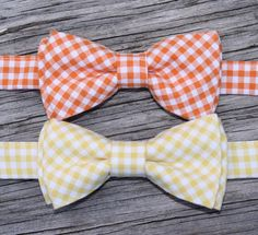 Yellow Bowtie  Orange Bowtie  Easter Ties for Boys  by littlevys, $18.00