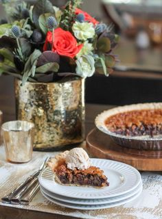 A chocolate pie recipe coated in delicious walnuts. Perfect for the holidays!