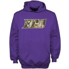 East Carolina Pirates Youth Purple Camo Logo Hoodie