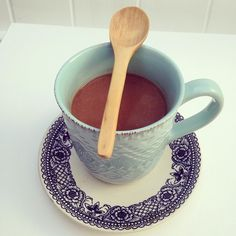 Chocolate caliente no lácteo! Cocina Natural, Healthy Sweet Snacks, Hot Chocolate, Oatmeal, Tea Cups, Tableware, Recipes, Instant Pot, Coffee