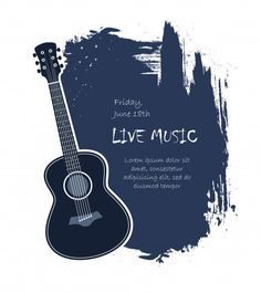 Download Acoustic Guitar Banner For Free Guitar Music Tshirts Vector Free