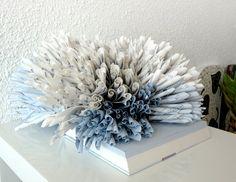"Book Art Sculpture ""Blue coral"""