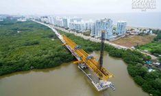Presidente de Colombia verterá última losa del viaducto del Gran Manglar