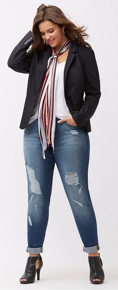 Plus Size Modern Blazer Plus Size Modern Blazer Mode Femme Xl, Mode Xl, Blazer Outfits For Women, Blazers For Women, Casual Outfits, Fashion Outfits, Blazer Fashion, Curvy Outfits, Dress Casual