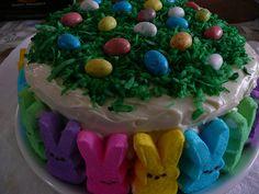 Peep Bunnies Cake   Flickr - Photo Sharing!