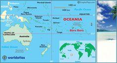 Mapa de localizacin de Bora Bora y de Oceana en el mundo  7