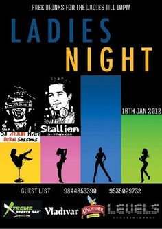 Ladies Night, Xtreme Sports Bar - Cunningham Road, Bangalore