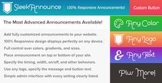 SleekAnnounce – responsive Announcements and Cookie Notifications