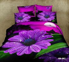 Roupa De Cama 4pcs Floral Print Covers 3D Bedding Sets 100% Cotton Bed Sheet/Duvet Cover Queen Size Comforter Bedclothes(China (Mainland))