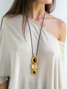 ожерелье, ожерелье, заявление ожерелье, ожерелье костюма, завернутый камень ожерелье, кожа колье, ожерелья золото долго