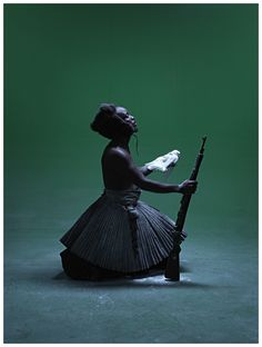 """Biography is central in Mohau Modisakeng's work. Casting himself as subject in his dramatic portraits, he enacts the notion of """"the personal is political"""". Sculpture Art, Sculptures, Contemporary African Art, Collage, African Artists, Creative Industries, Illinois, South Africa, Photographers"""