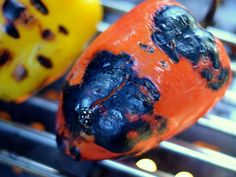 Roasted Grilled Peppers Vegetable Dishes, Vegetable Recipes, Grilled Vegetables, Veggies, Memphis Grills, Grilled Peppers, Grilling Recipes, Sprouts, Carrots