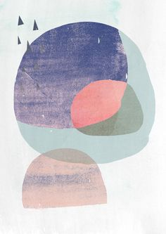 A3 Abstract Painting- Abstract Modern- Dark Circles 2 - Digitak Art. $38.00, via Etsy.