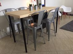 kitchen island + dining table