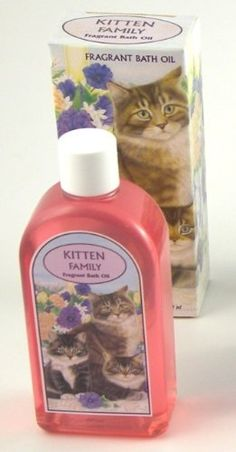 4 Boxes Kitten Themed Scented Herbal Bath Oil Bottles, Imported from England, CLOSEOUT, Bulk Sale of 4 Bottles per Order by Master Herbalist of England. $12.00. Closeout priced at below-wholesale, a great bargain!. 250 ml of moisturizing, scented oil per bottle, plenty for several baths. Matching soap, herbal bath sachets, drawer sachets and hanging closet sachets also available. Packaged in a beautifully decorated box. 4 bottles of imported herbal infused bath oil per order. ...