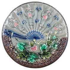 Check out this item at One Kings Lane! Majolica Fan Wall Plate