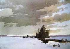 Edward Seago — «The Norfolk Marsh in Winter..jpg» на Яндекс.Фотках