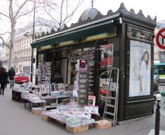 Paris, France - news stand