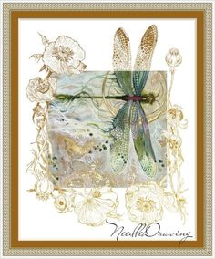 Raindrops And Roses, Dragonfly Art, Art Techniques, Watercolor Techniques, New Art, Watercolor Paintings, Watercolour, Fantasy Art, Book Art