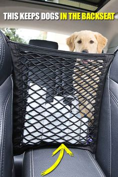 Car Seat Storage Mesh ⭐⭐⭐⭐⭐ Your car's no longer in a mess! ✅Stop kids or pets disturbing ✅High intensity elasticity ✅Convenient setup ✅Universal fitment Monospace, Pet Barrier, Seat Storage, Car Gadgets, Car Hacks, Cool Inventions, Car Cleaning, Cool Items, Car Accessories