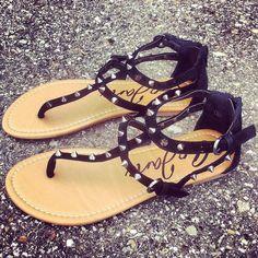 spiked velvet sandals ♡