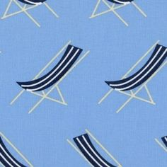 Jack and Lulu - Its a Shore Thing - Sling Chairs in Blue