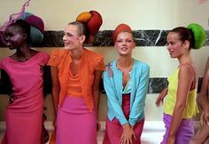 The gals backstage at Matthew Williamson's debut collection, Electric Angels, in 1997