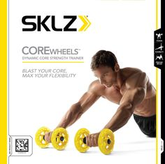 Amazon.com : SKLZ Core Wheels Dynamic Strength & Ab Trainer : Abdominal Trainers : Sports & Outdoors