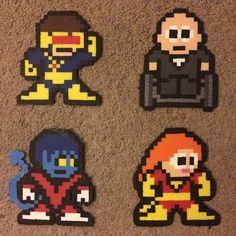 X-Men (Cyclops, Professor X, Night Crawler, Jean Grey) hama perler beads by hardassdoll