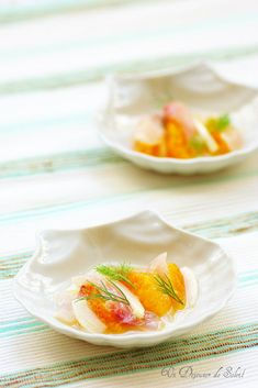 Sea bass carpaccio with orange and fennel Ceviche, Top Recipes, Raw Food Recipes, Bar, Lemon Kitchen, Time To Eat, Appetisers, Fish Dishes, Tilapia
