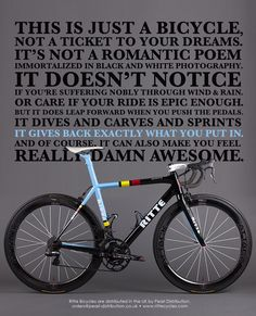 Just A Bicycle Art Print - and the truth about the machine between your legs ;o}