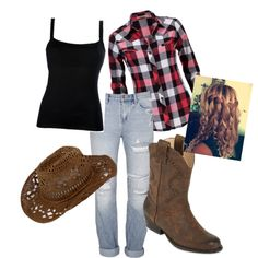 Cowgirl Outfit - Polyvore.   I think those are the exact same boots I have!