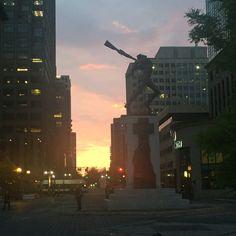 Exchange place boardwalk | Jersey City | NJ | NYC | Sunset