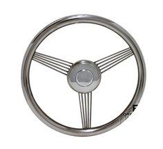 """14"""" Stainless Steel Banjo Steering Wheel"""