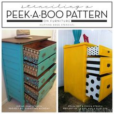 stenciling a peek a boo pattern on furniture, furniture furniture revivals, painting