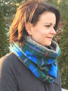 Items similar to Nova Scotia Tartan Cowl Scarf on Etsy Cowl Scarf, Nova Scotia, Mittens, Tartan, Trending Outfits, Unique Jewelry, Handmade Gifts, Awesome, Etsy
