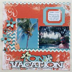 Page Inspiration with Alicia Hello Quick Quotes readers! Alicia with you today and I have a tropical layout using the Catalina Island collection.  I just can't get enough of the bright cheerful colors and they go great with my honeymoon photos from Jamaica.